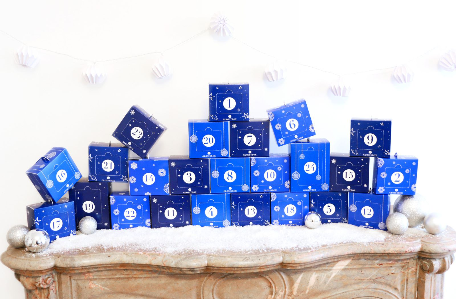 celebrating christmas with the first cosmetic advent calendar, GLOSSYBOX