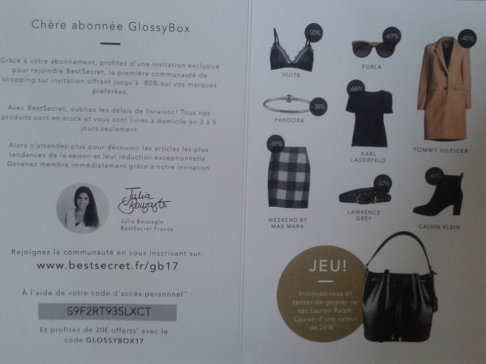 """toujours le glossymagazine, utile!always the glossymagazine so useful and pleasant!, """"simply beautiful """"the first beautybox"""