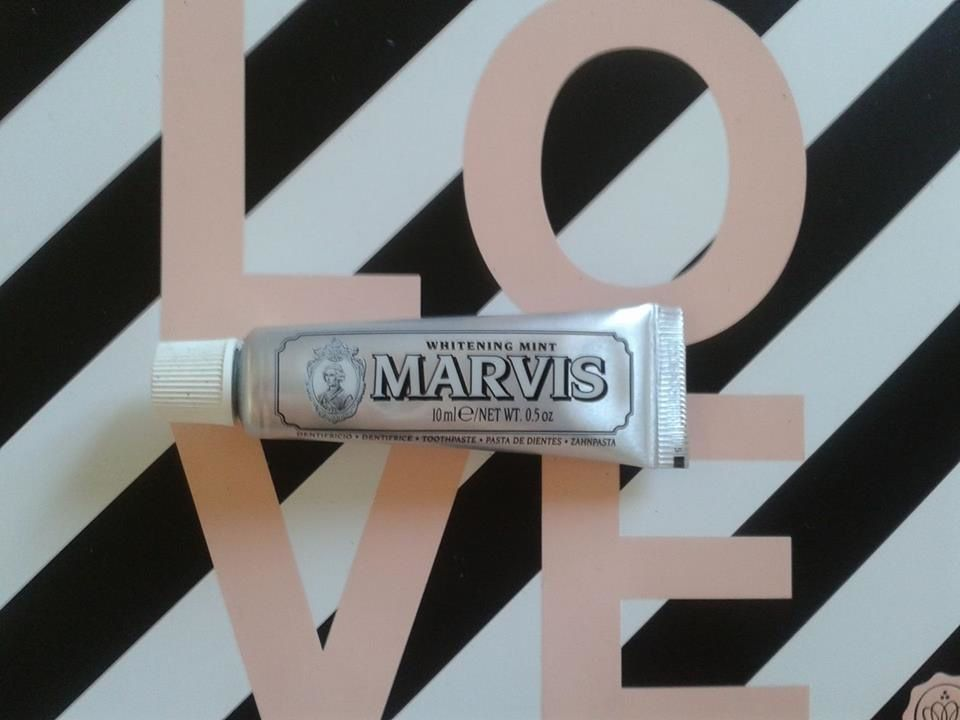 """share the love ""don't forget the  toothpaste!,evening and morning with  whitening mint by marvis"