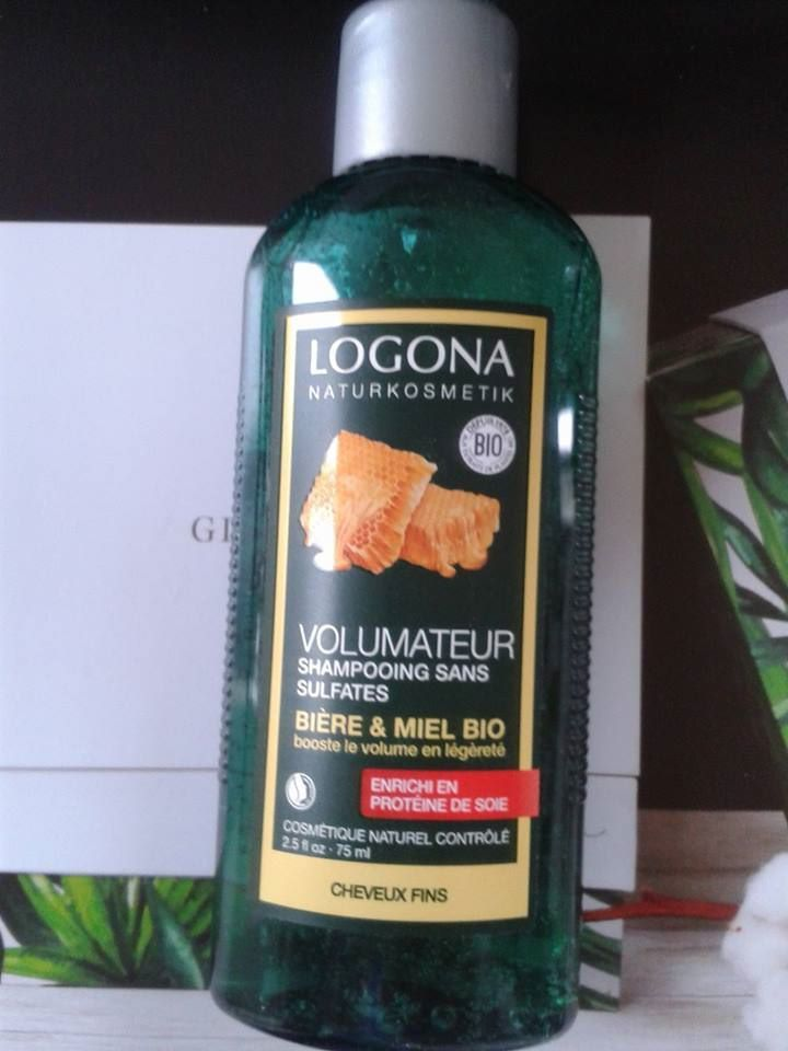 organic shampoo with organic honey and beer by LOGONA, shampoing bio miel bio et bière by LOGONA