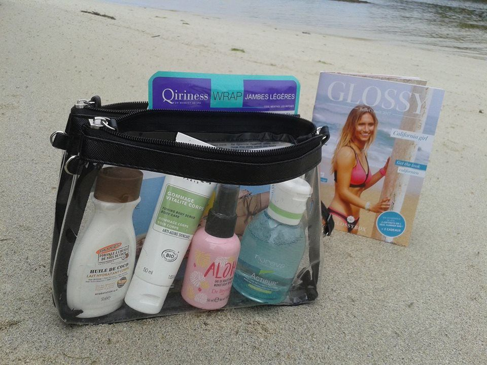 """california girl"" by glossybox, new edition, summertime and this two beauty bags including july and august, full size and travel size, ready to go!"