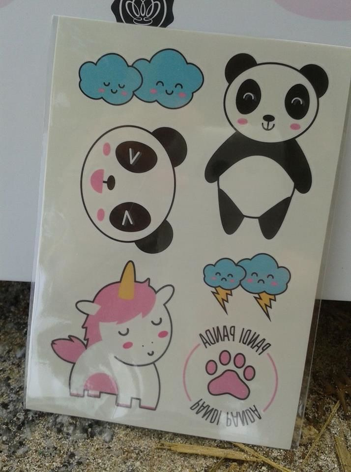 stickers by bernard forever! panda box by glossybox