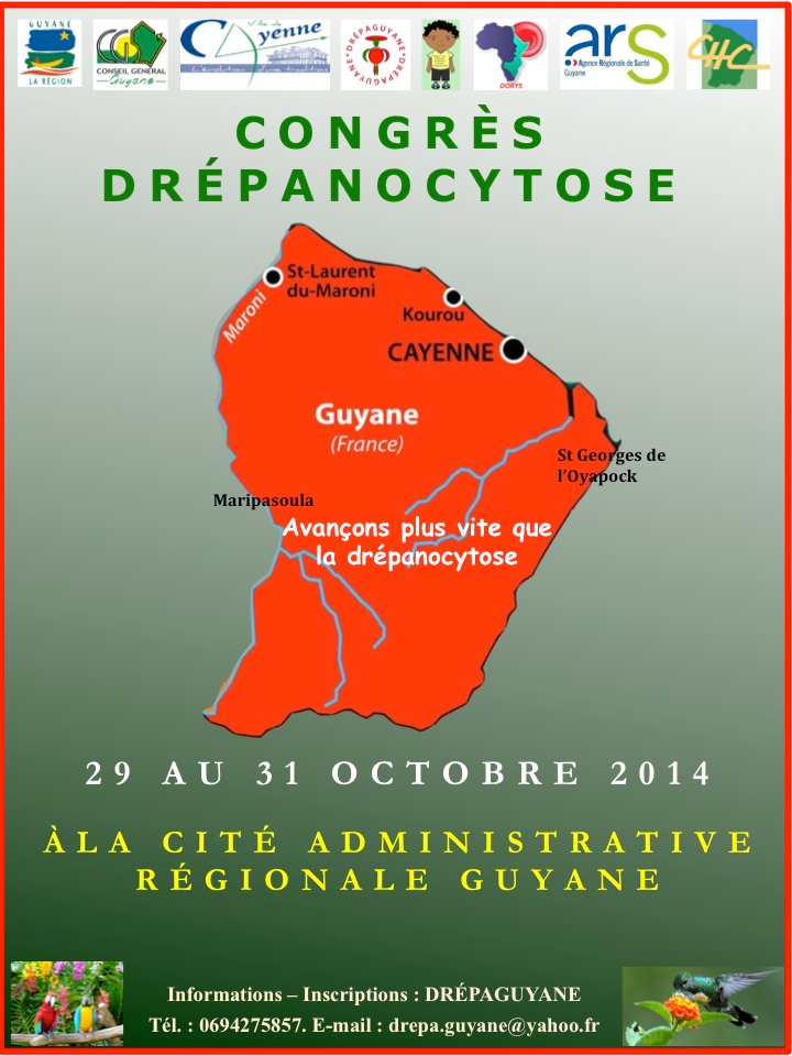 CONGRES DREPANOCYTOSE - 29 au 30 octobre 2014