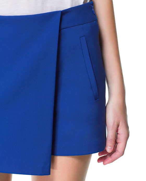 Skort bleu royal -33%