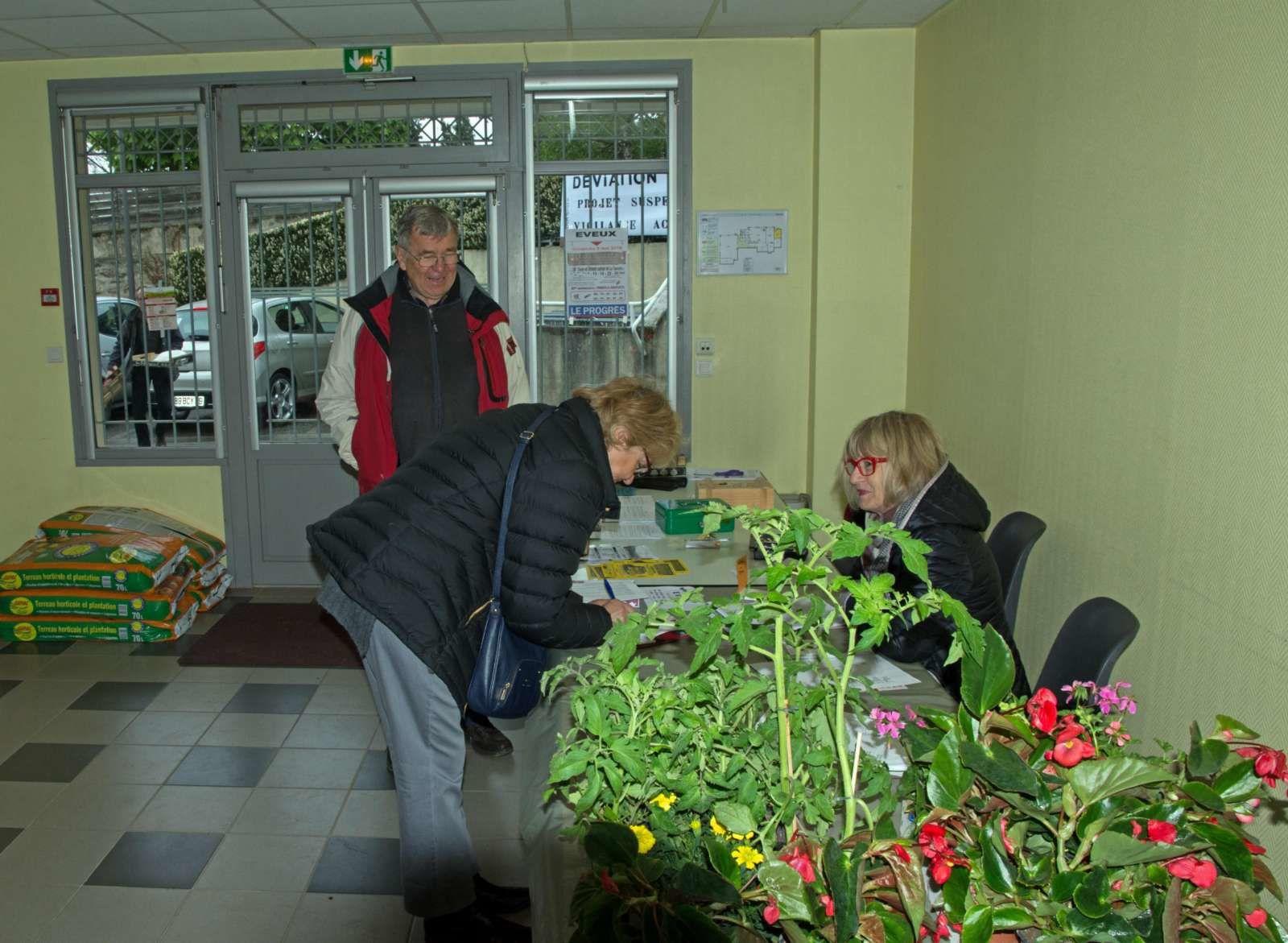 Vente de fleurs opération réussie