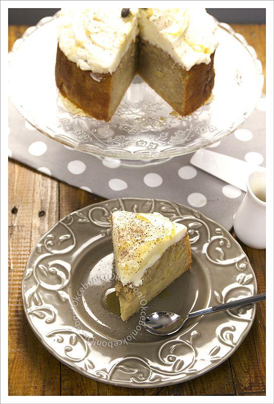Gâteau aux pommes, mascarpone et beurre noisette