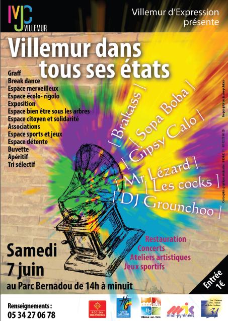 &quot&#x3B;Villemur dans tous ses états!&quot&#x3B; Samedi 7 juin à Bernadou