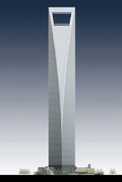 Le Shanghai World Financial Center culmine à 492 m.