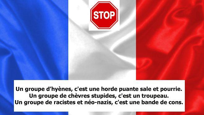 """La pourriture française est dans la """"couleur"""" Bleu-Marine gérée par la """"famille"""" LE PEN et leurs hordes !"""