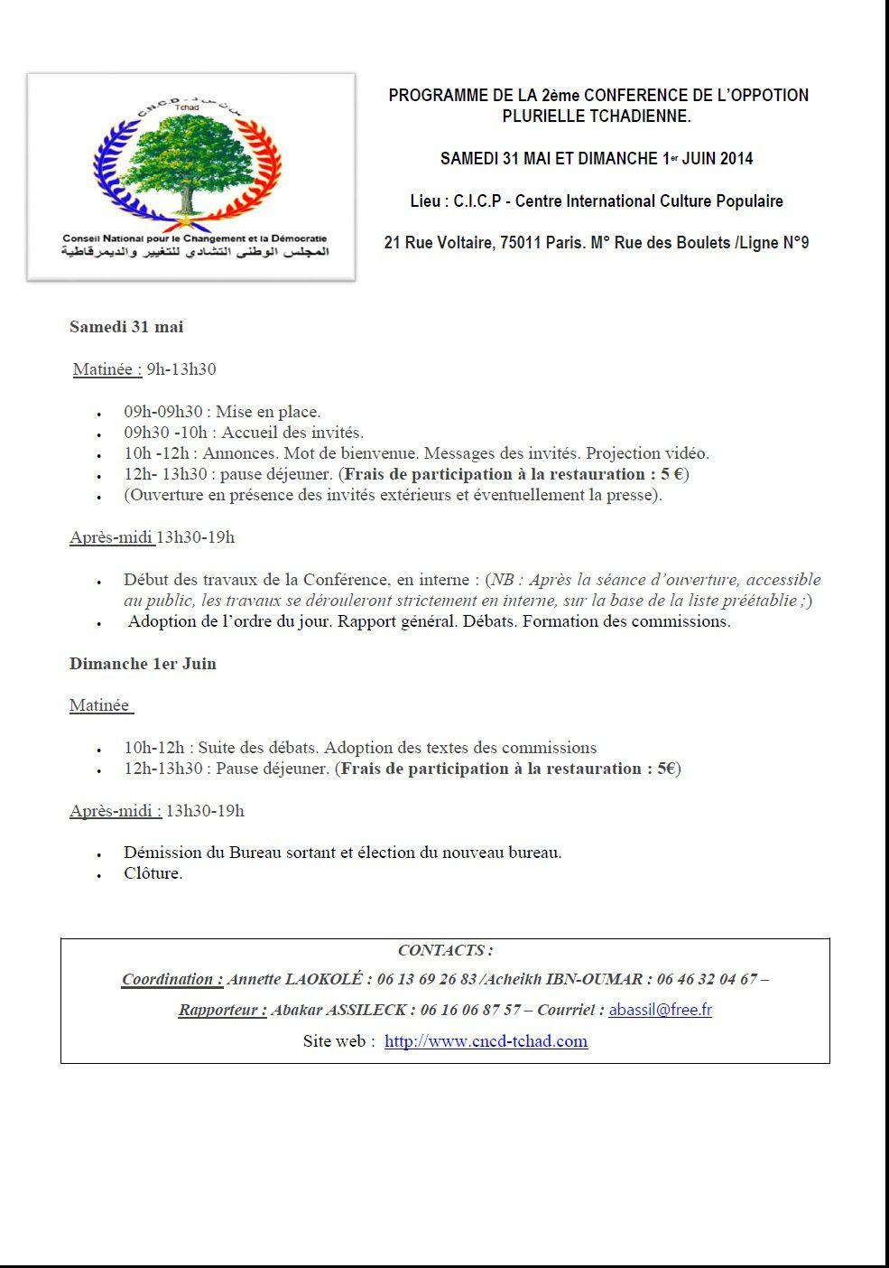 France: le CNCD organise une conférence de l'opposition plurielle