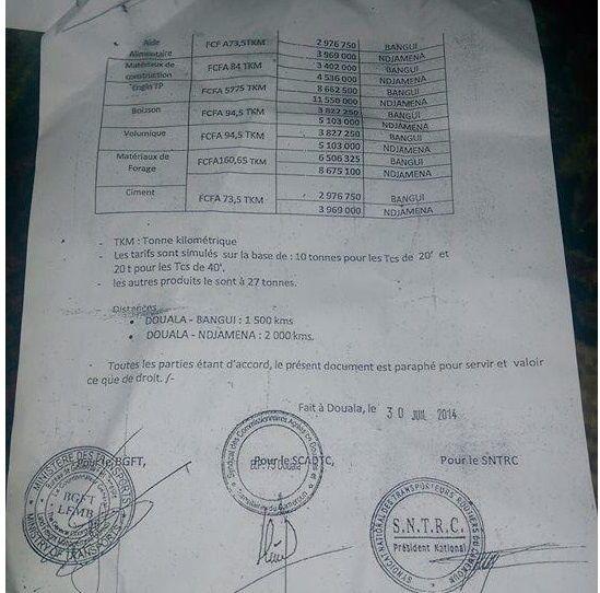 Des marchandises en transit bloquées au Tchad  avec la complicité des agents camerounais et le BNF