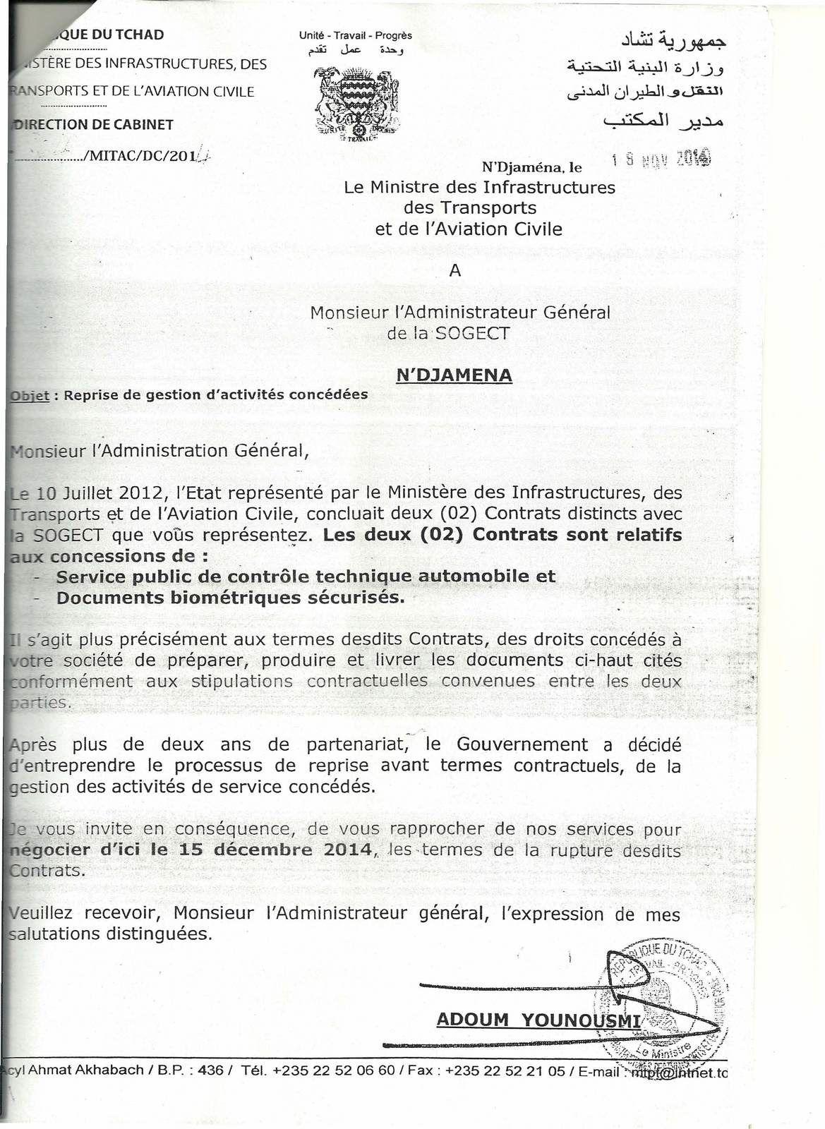 Affaire SOGECT- TCHAD: proposition révoltante de Bedei, un proche d'Idriss Deby