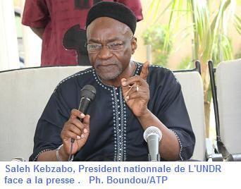 Paris: conférence de presse de M.Saleh Kebzabo