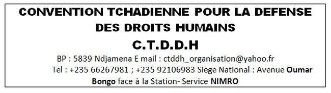 Tchad: la C.T.D.D.H dénonce le calvaire subi par la population