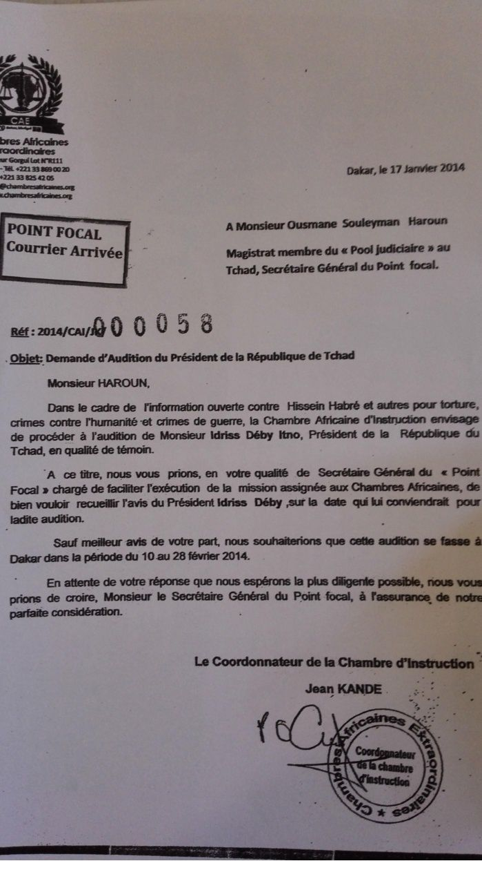 Affaire Habré: Idriss Deby sous le coup d'un mandat d'arrêt des Chambres Africaines Extradinaires (CAE)