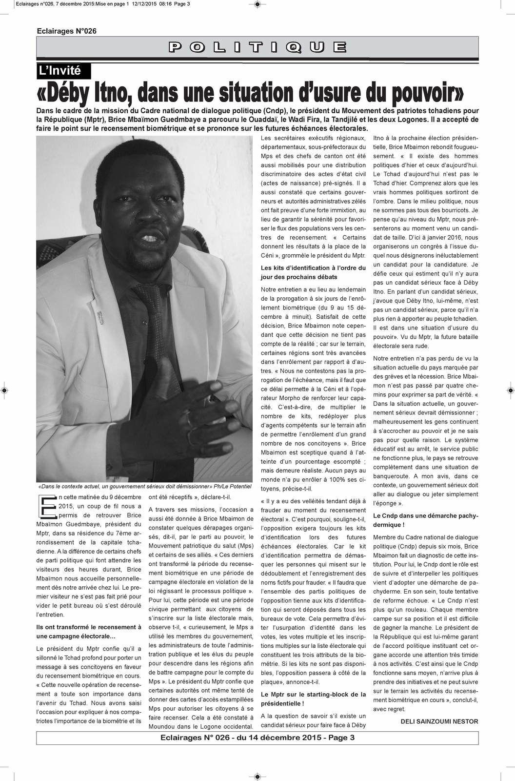 Et si les Tchadiens suivaient l'exemple du Burkina !