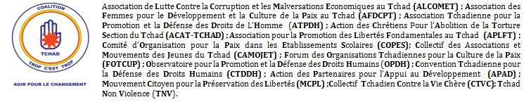Tchad: la coalition &quot&#x3B;Trop c'est Trop&quot&#x3B; dit révoquer la gestion patrimoniale du MPS