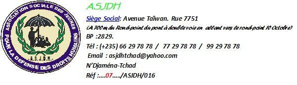 Tchad: l'ASJDH dénonce le tortionnaire, Mahamat Korde