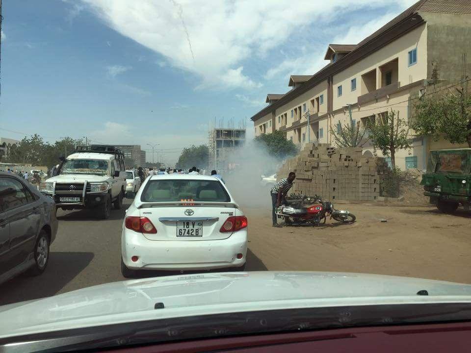 Vidéo des manifestants à Ndjaména au Tchad