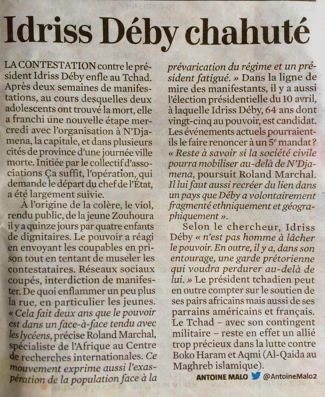 Idriss Deby chahuté au Tchad