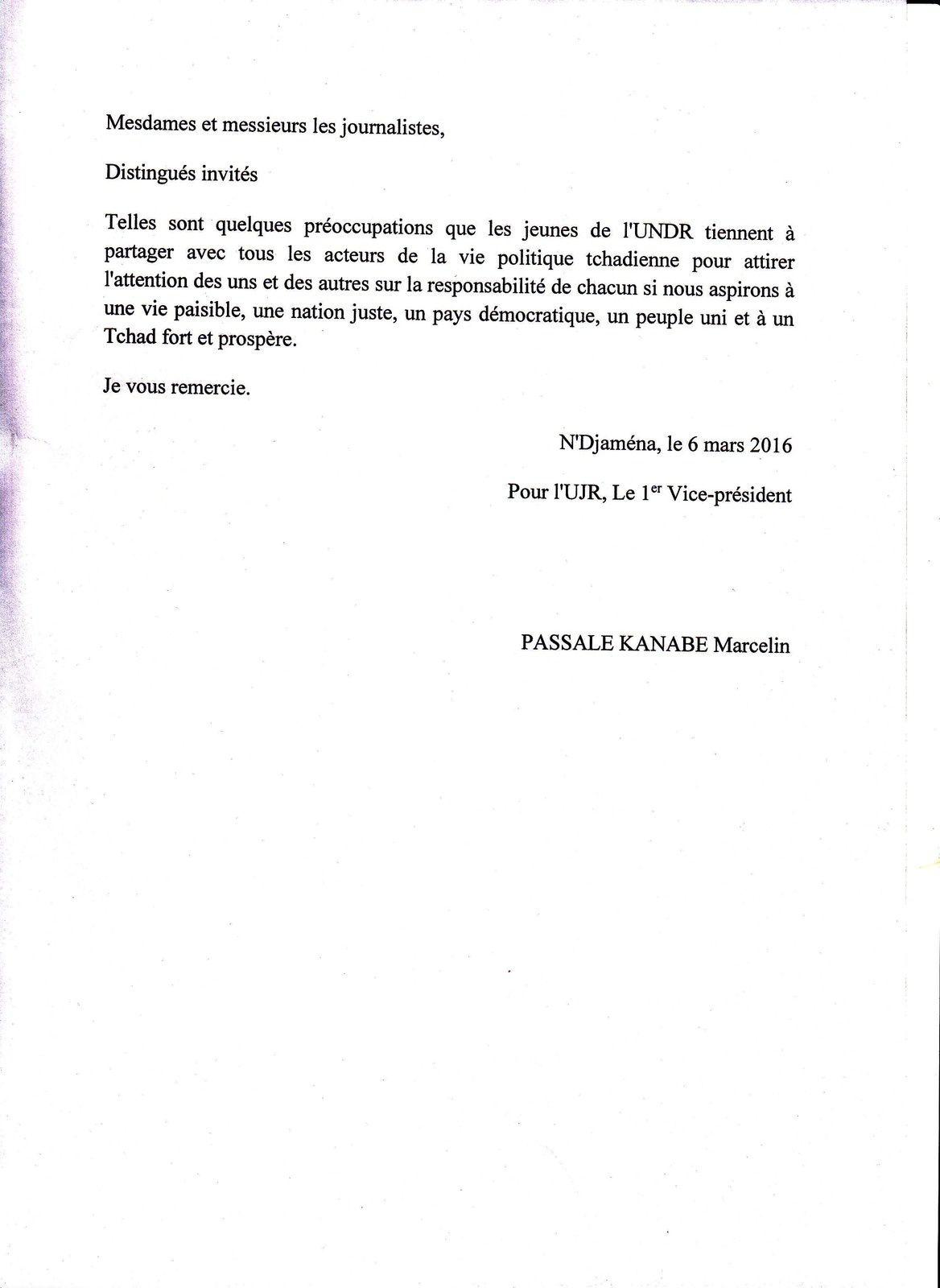Affaire Mahamat Taher Korom: point de presse de l'UJR à Ndjaména