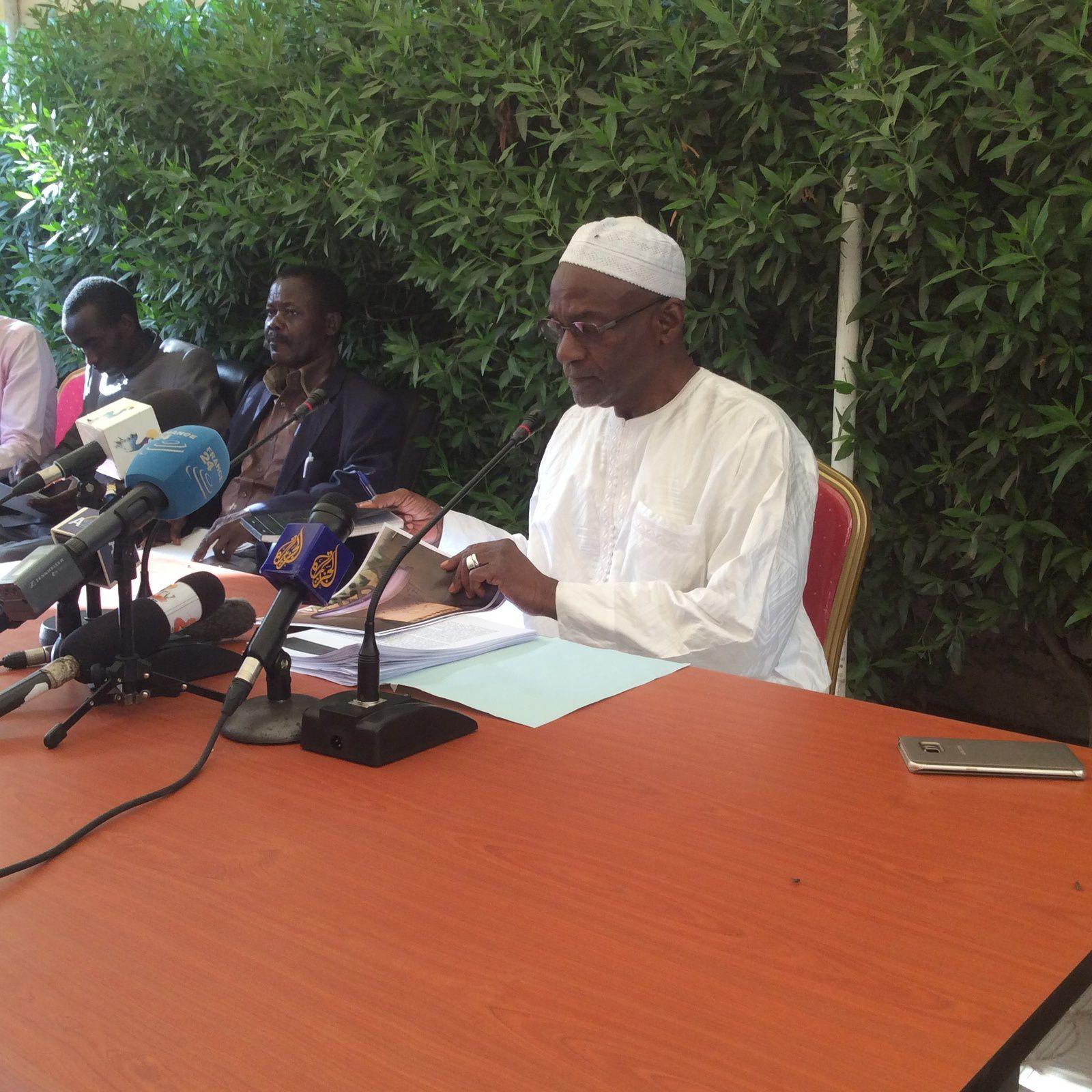 Déclaration du candidat Kebzabo à la presse au Tchad