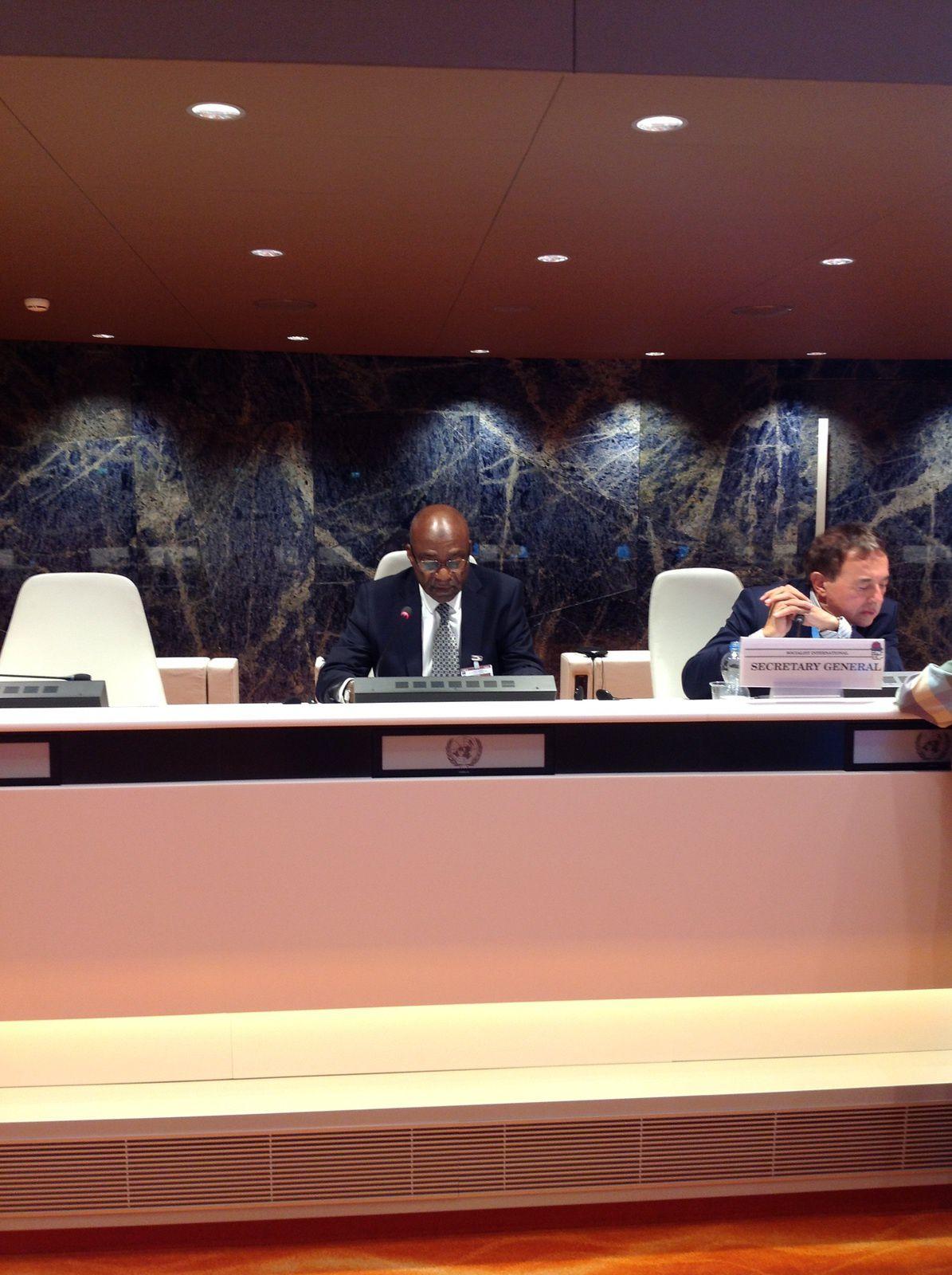 Intervention de M. Saleh Kebzabo au Conseil de l'Internationale Socialiste: vers une résolution importante sur le Tchad à Genève