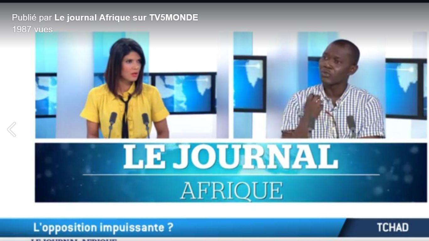Tchad: journal de Tv5 afrique consacré à l'investiture d'Idriss Deby