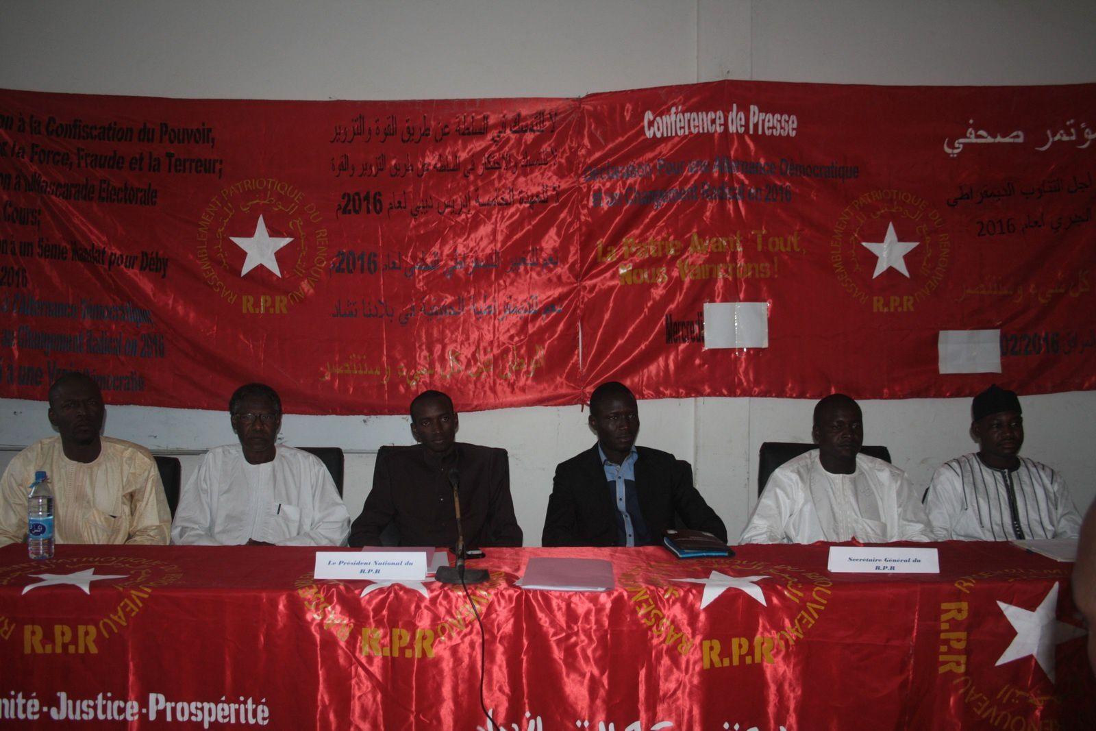 Tchad: le RPR appelle à soutenir le meeting du FONAC prévu le 17 novembre 2016
