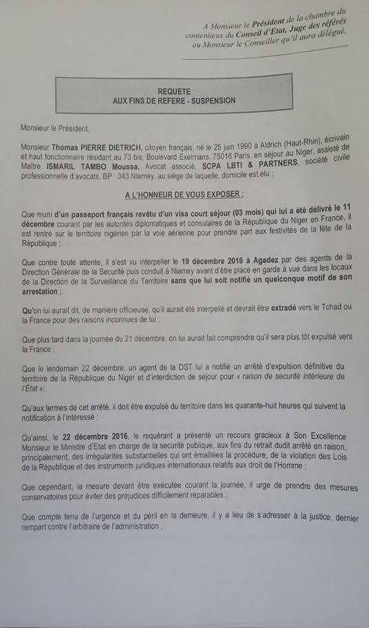 Affaire Thomas Dietrich : Ndjaména et Paris accusés par l'écrivain