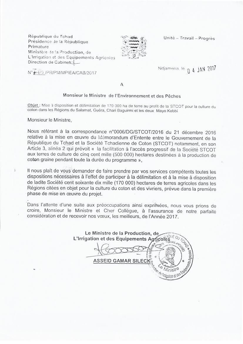 Bradage des terrains au Tchad