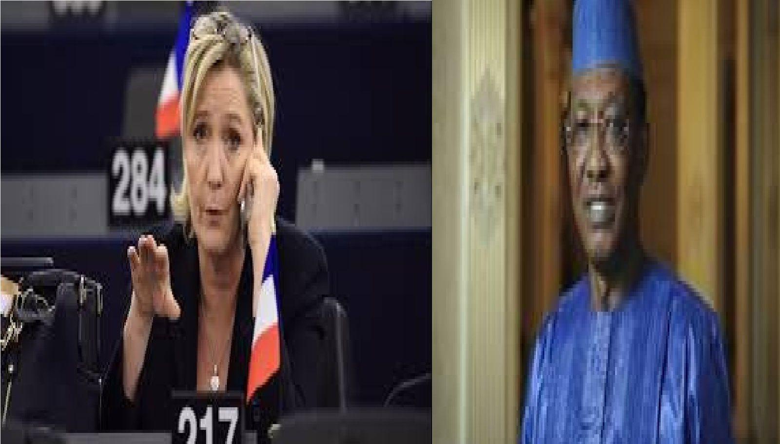 Marine Le Pen au Tchad : triste nouvelle pour le peuple tchadien
