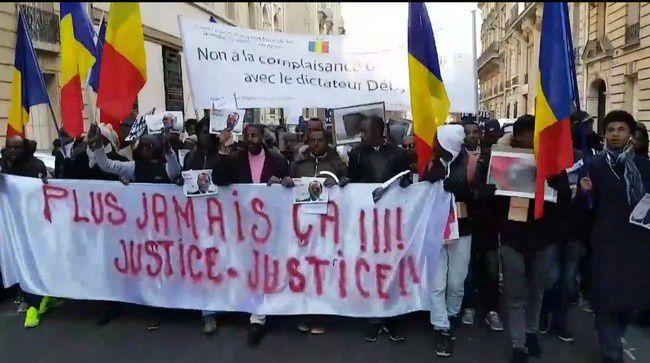 Appel de rassemblement devant l'ambassade du Tchad.