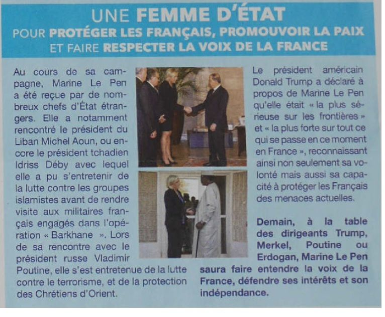 Marine Le Pen fait l'apologie de la Françafrique (communiqué de presse SURVIE)