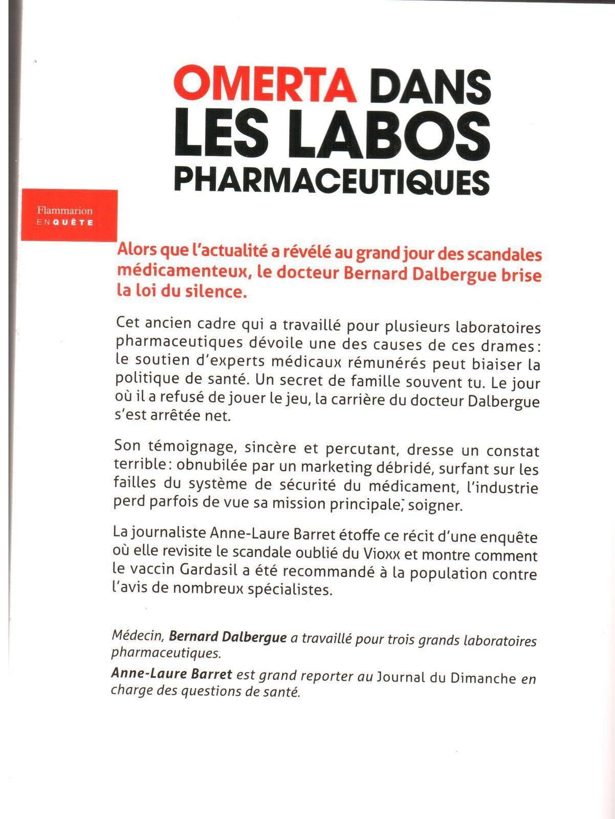 Omerta dans les labos pharmaceutiques : un livre qui décoiffe