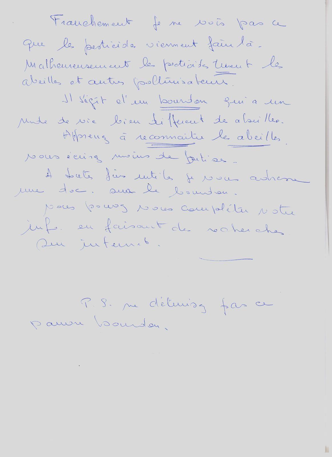Massiac : lettre anonyme