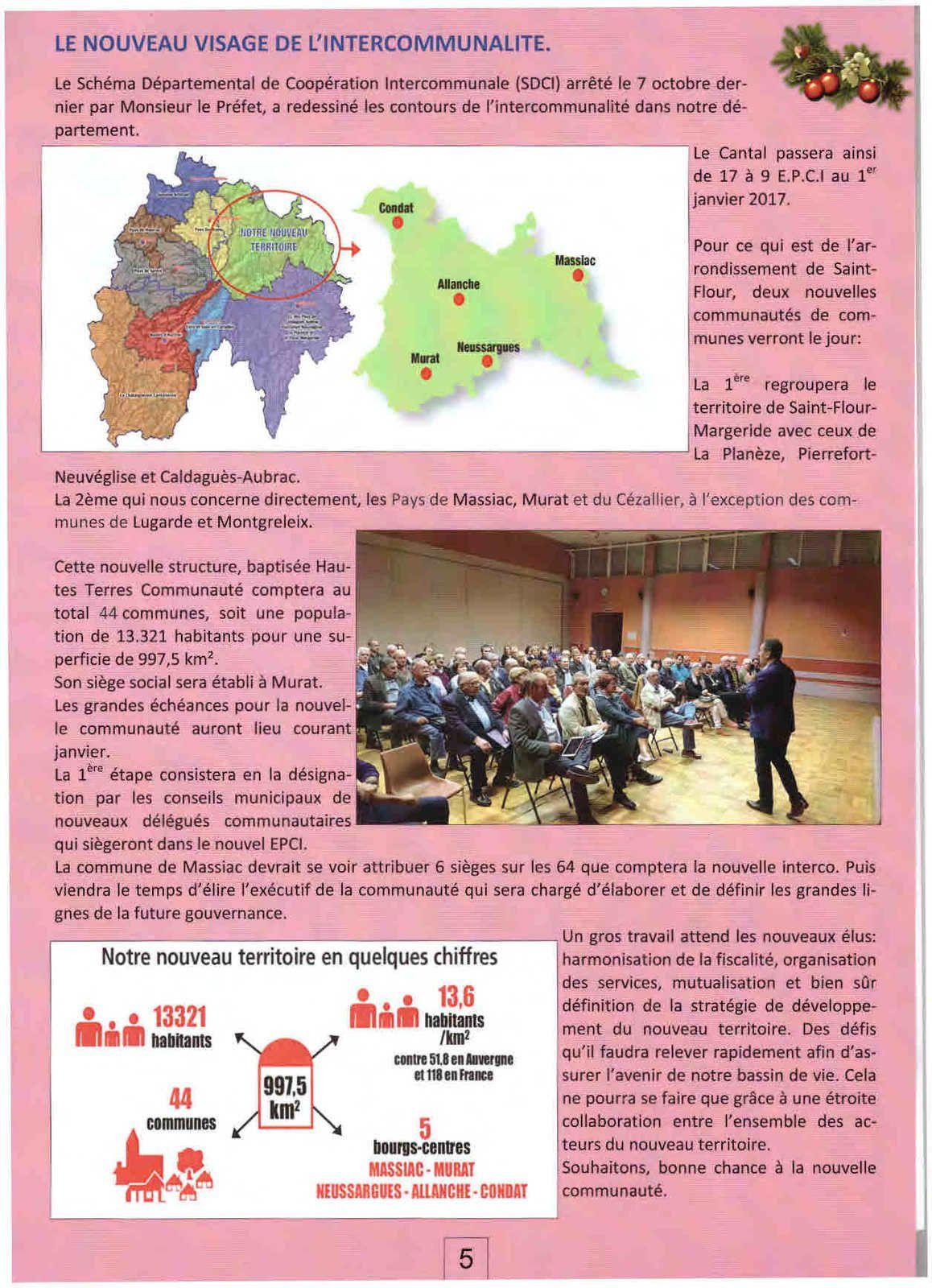Massiac : la nouvelle communauté suivant la mairie de Masssiac