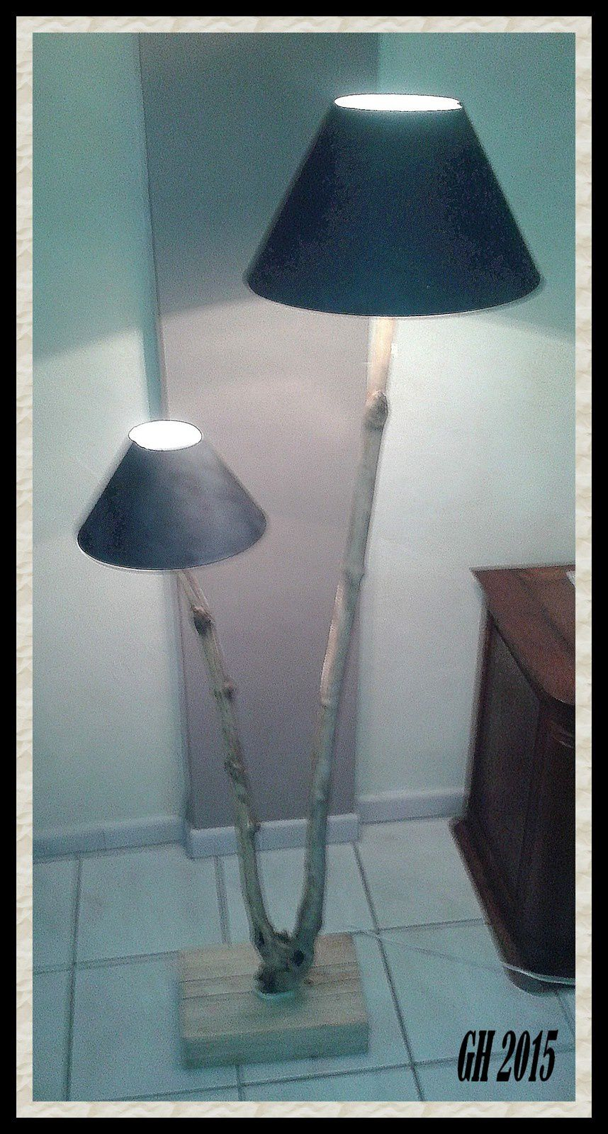 Lampe double abat jour