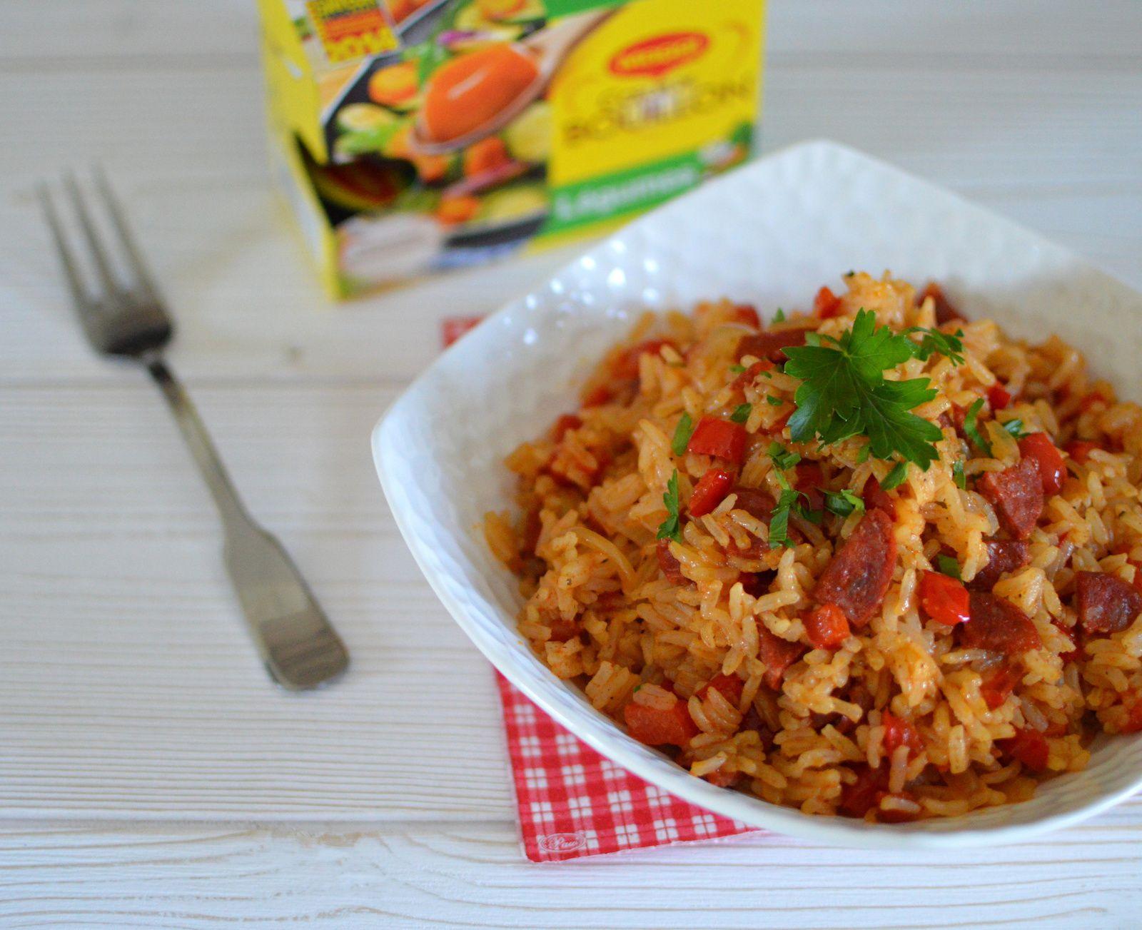 Po l e de riz au chorizo et aux poivrons cuisiner - Comment cuisiner les vermicelles de riz ...