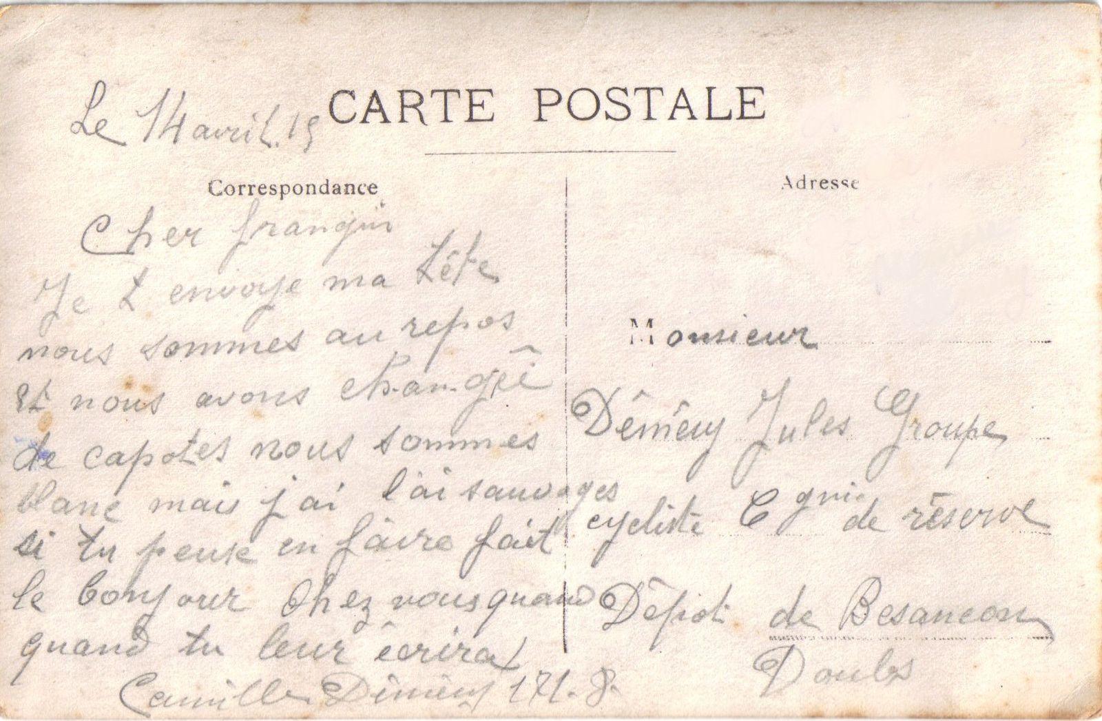 Champagney - 1915 - le bleu horizon