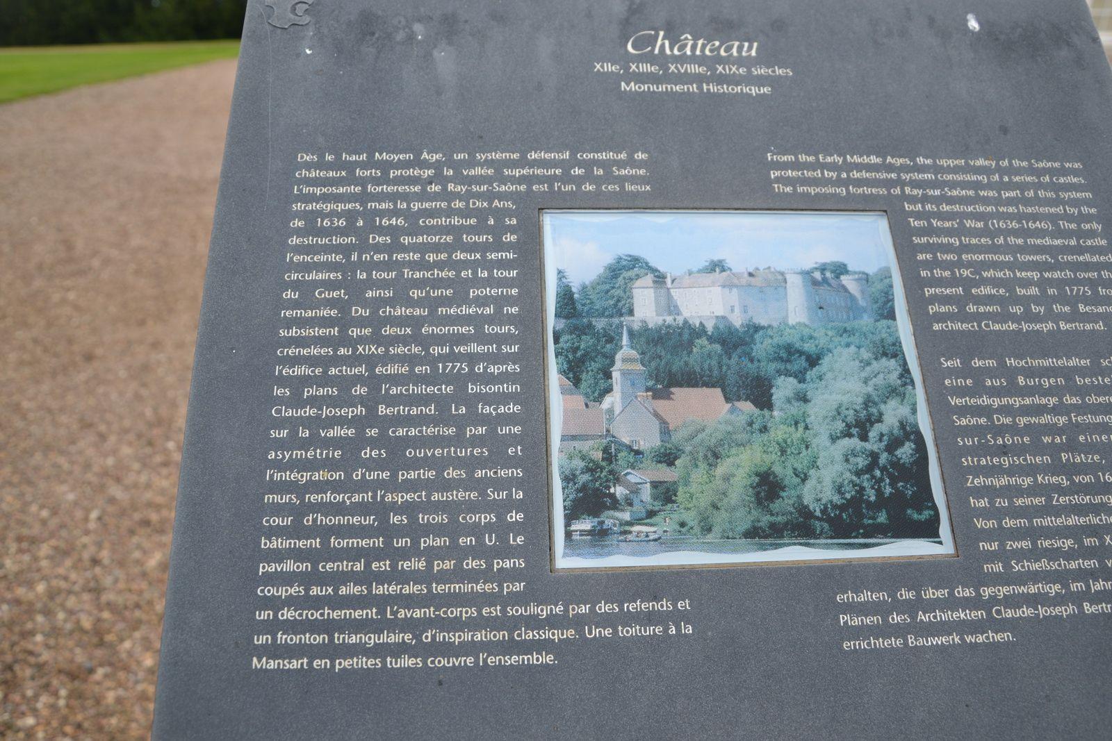 Le château de Ray-sur-Saône