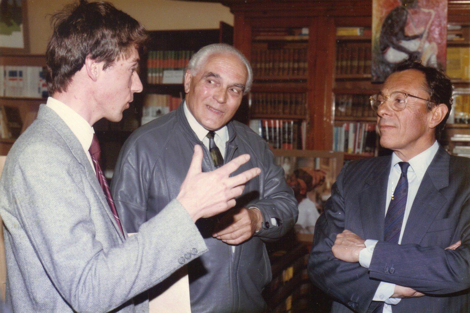 Avec Michel Rocard, à Champagney, en 1987