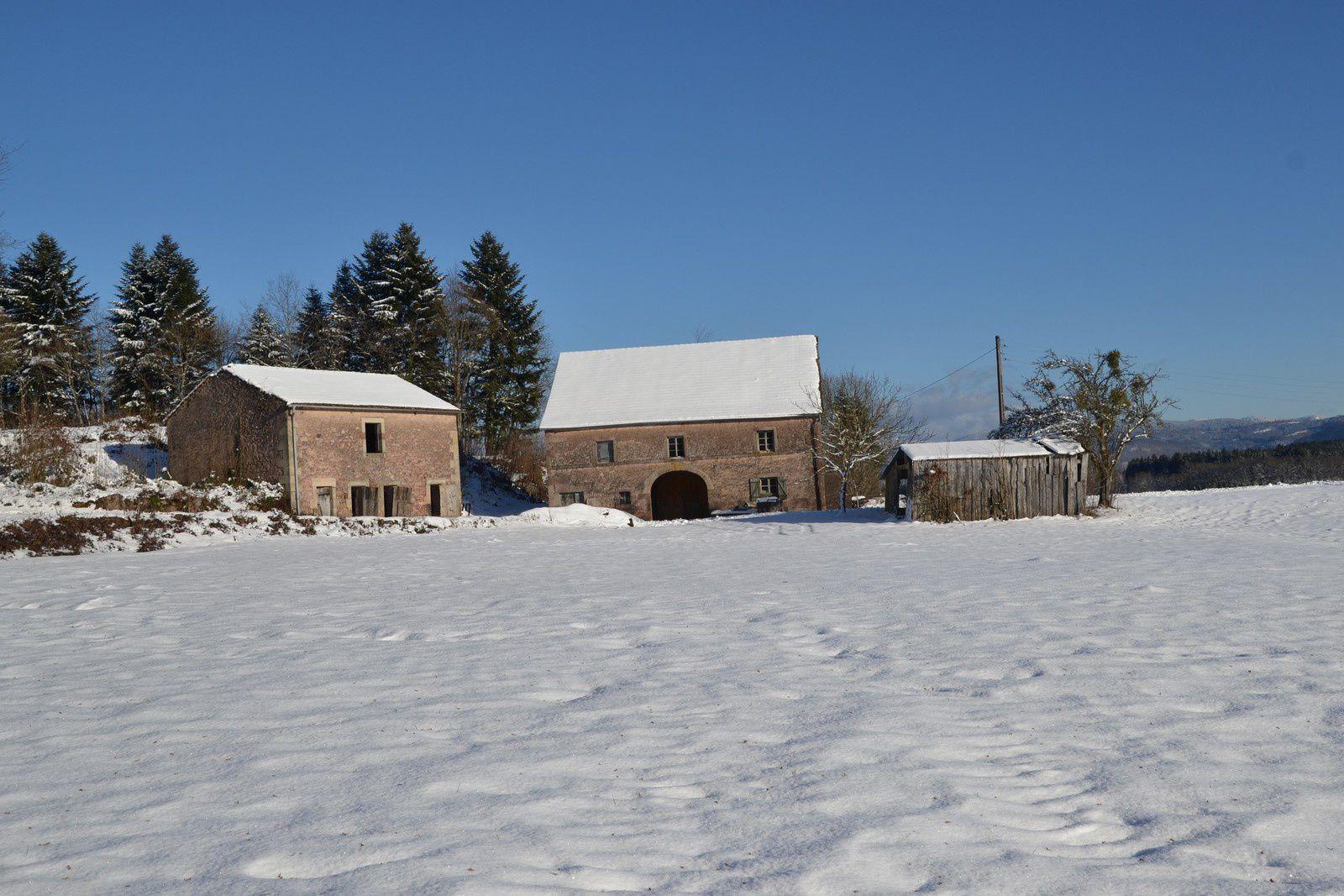 Hiver à Ecromagny -  Haute-Saône