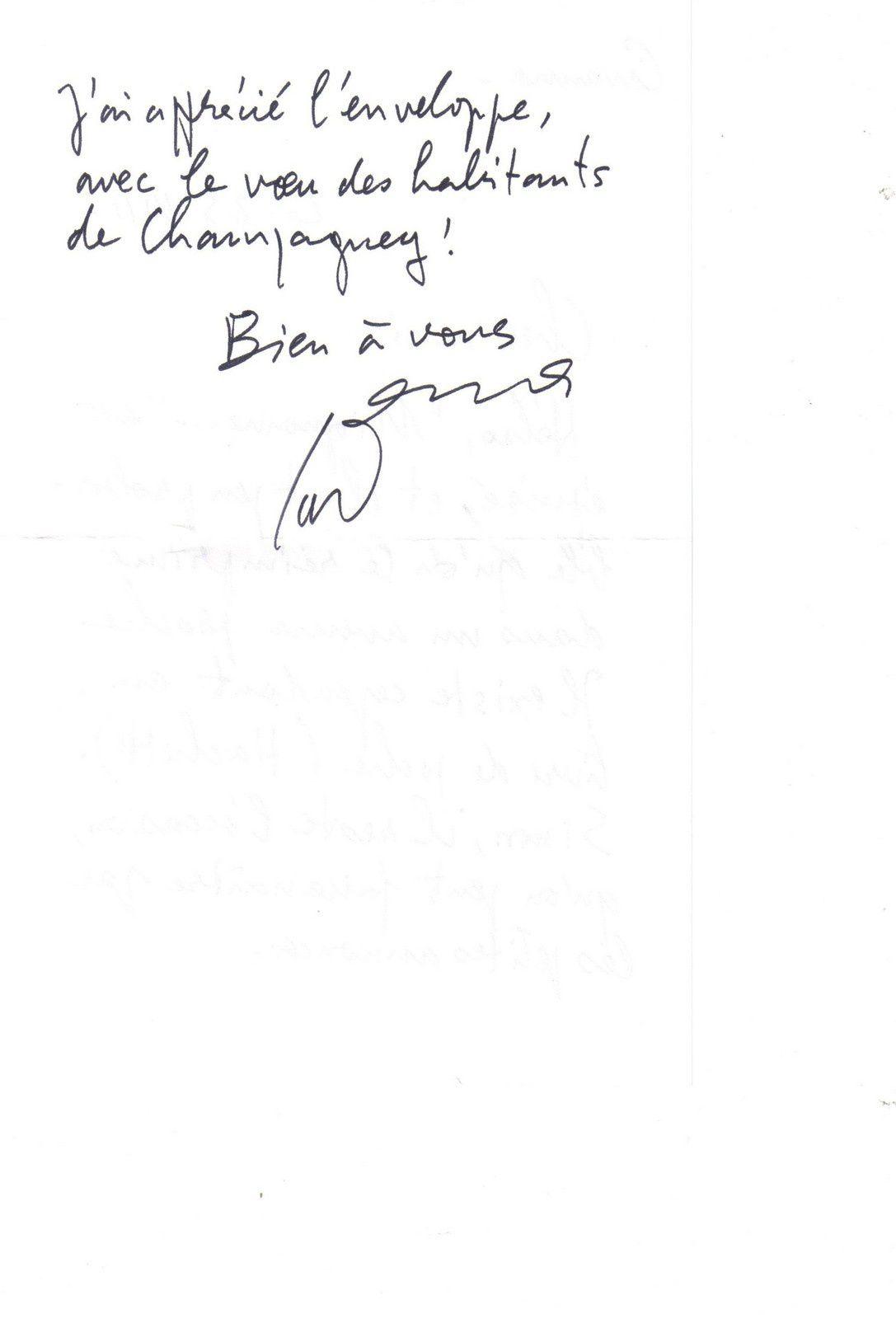Cavanna - un autographe