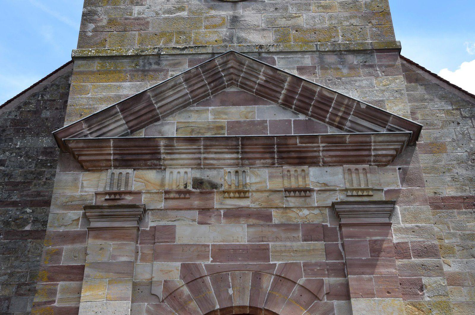 La reconstruction de l'église de Champagney  (1773-1788)   -  Haute-Saône