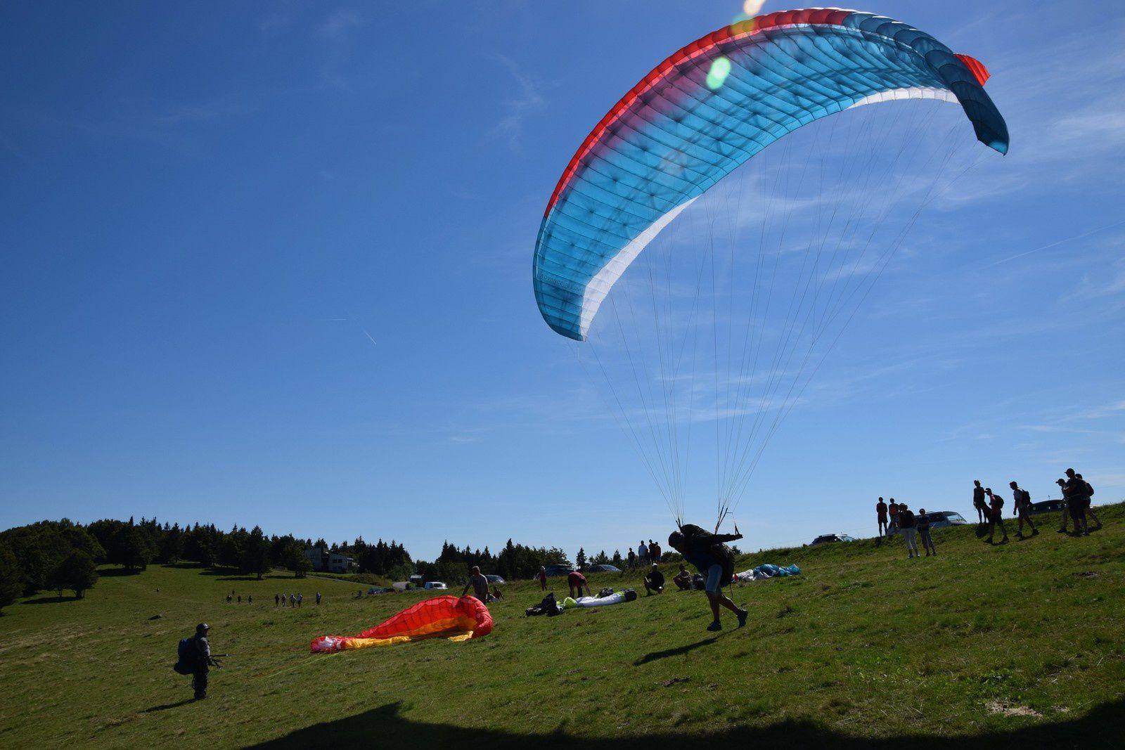 Au Ballon d'Alsace - décollages