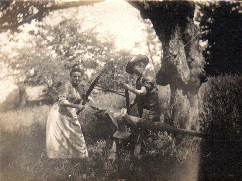 Maison Jacquot à la Bouverie, avant 1914 (photo Mozer).