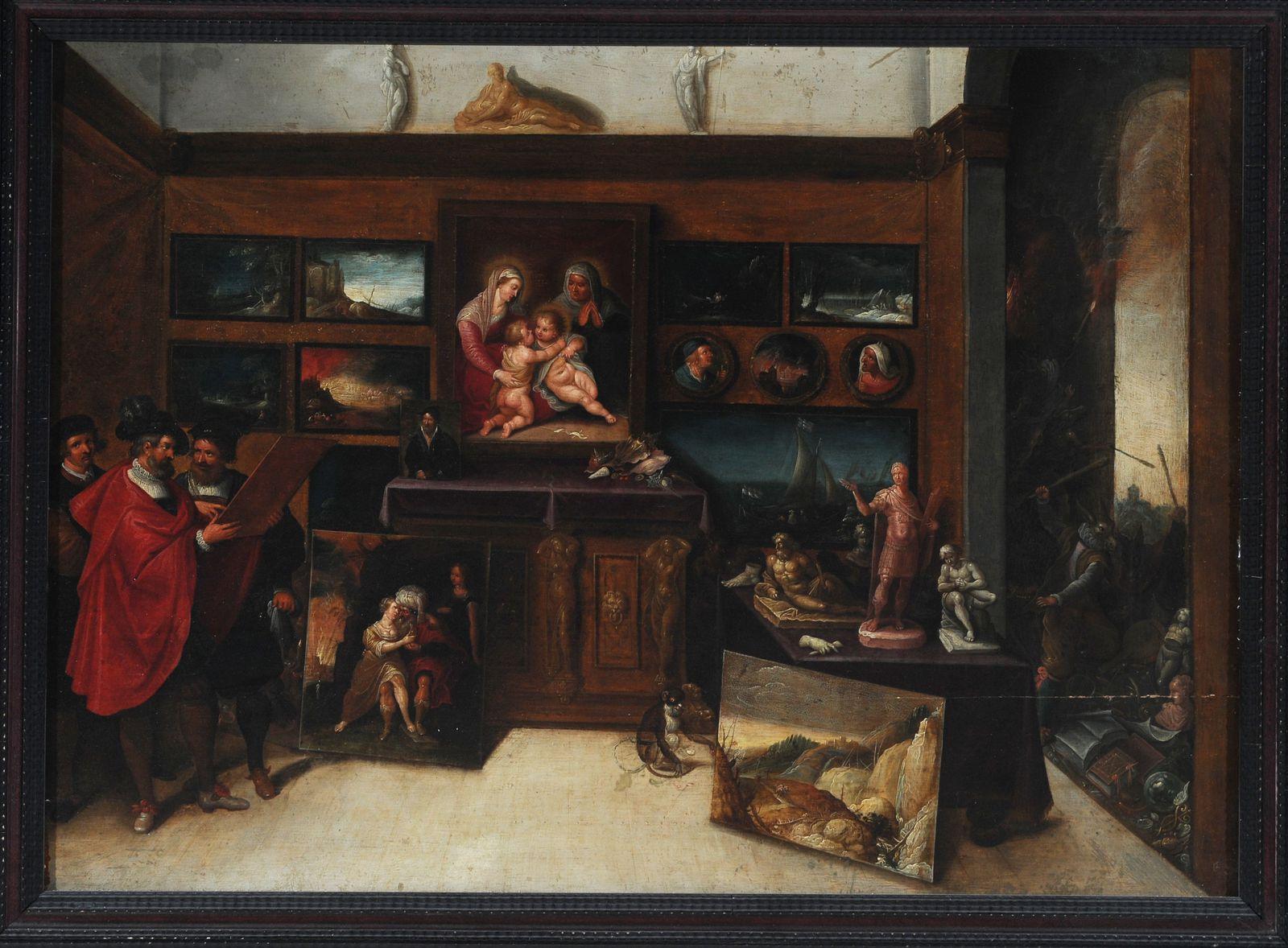 Francken. Le cabinet d'un amateur. 17ème siècle.