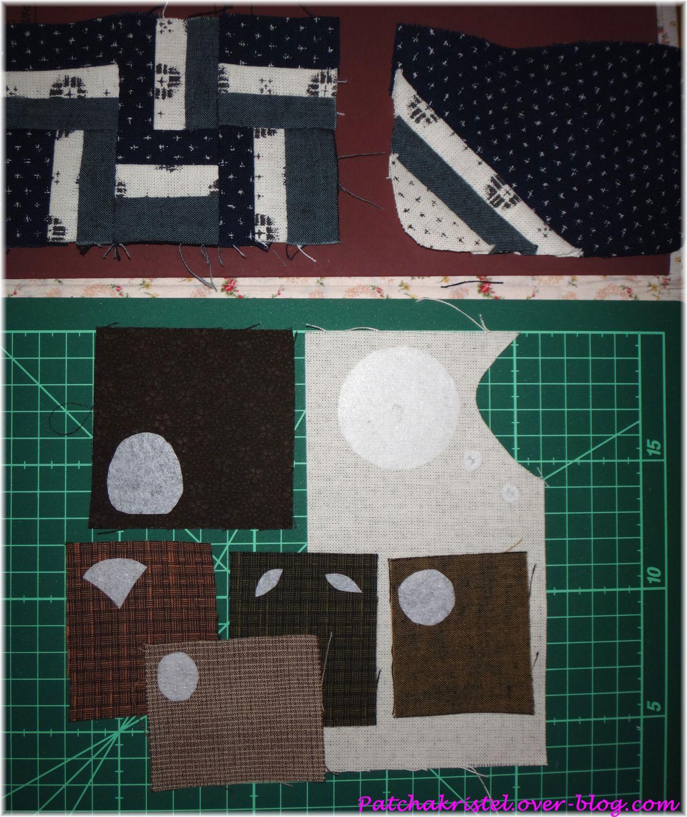 Assemblage des tissus, et préparation pour l'appliqué