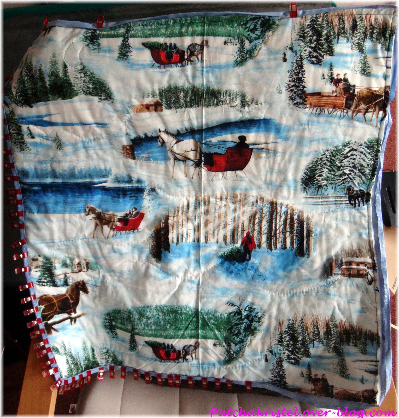 Les Poulettes de Noël - pose du biais - vue du dos